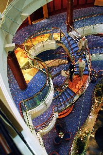 Photo of Seven Seas Mariner atrium is shown here.