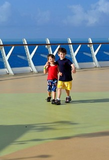 Photo of kids on Oasis of the Seas goes here.