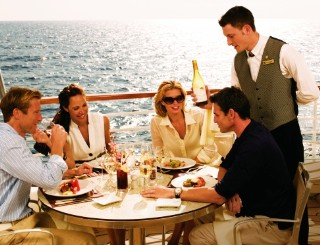 Photo of Seabourn dining goes here.
