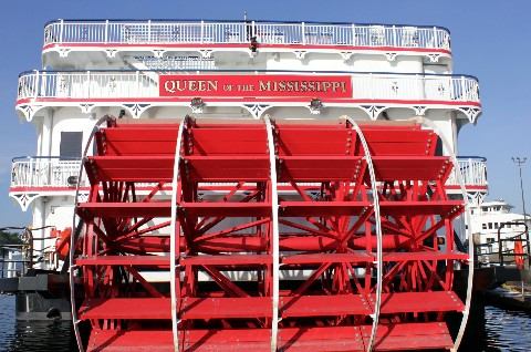 Photo of Queen of the Mississippi's paddlewheel.*