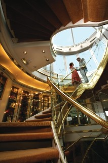 Photo of Seabourn staircase goes here.