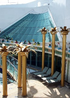 Photo of Royal Caribbean's Solarium goes here.